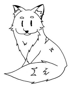 Fox for coloring book