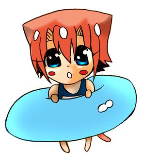 Akari and the floating wheel ☆