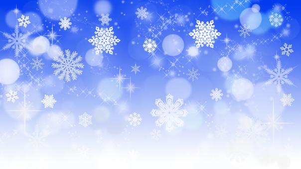 Glitter snowflakes blue background