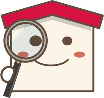 House character with a magnifying glass