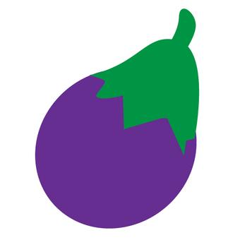 One eggplant 200 x 200 mm