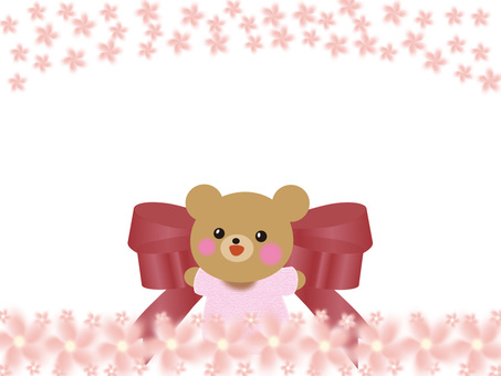 Cherry blossoms and bears