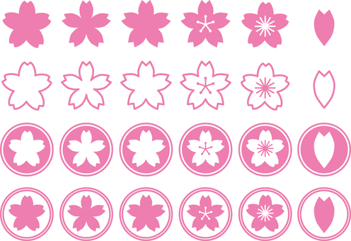 Sakura icon set