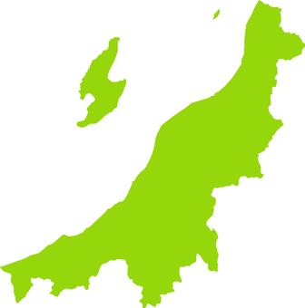 Niigata Prefecture _ Silhouette _ yellow green
