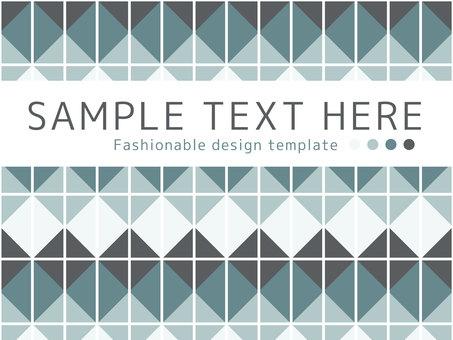 Stylish simple frame <01>