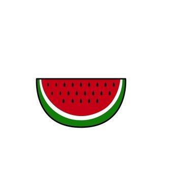 Cut watermelon