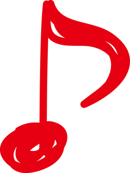 Eighth note _03_ Red