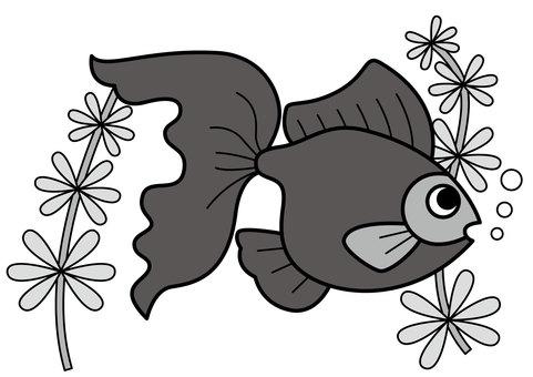 Goldfish and aquatic plants 2c