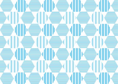 背景_線條圖案_六角形_淺藍色
