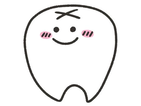 Deformed smiley teeth