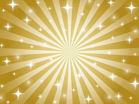 金色のキラキラ放射状背景
