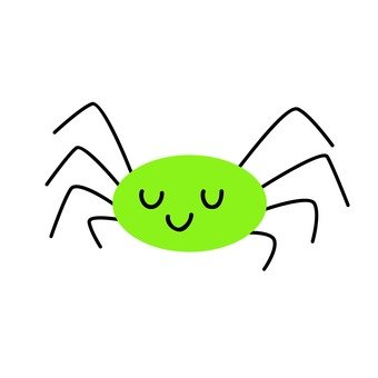 Yellow green spider