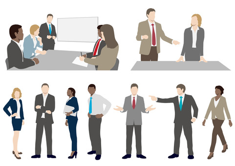 Business people illustration set
