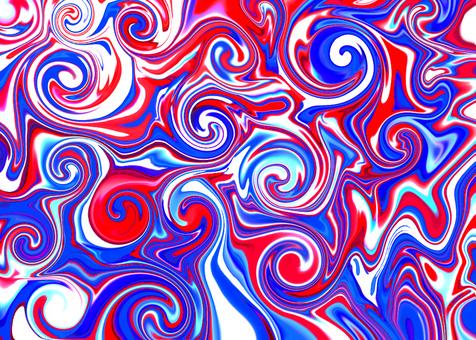 三色漩渦大理石花紋