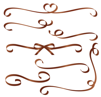 Spinning ribbon set brown