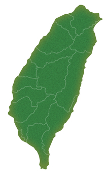 Taiwan (with prefectural borders)