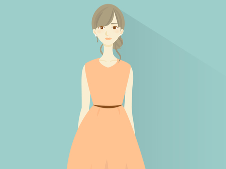 Illustration of a woman in a dress