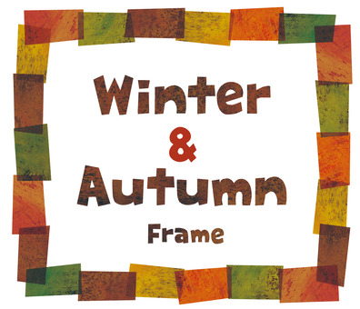 Fall collage frame