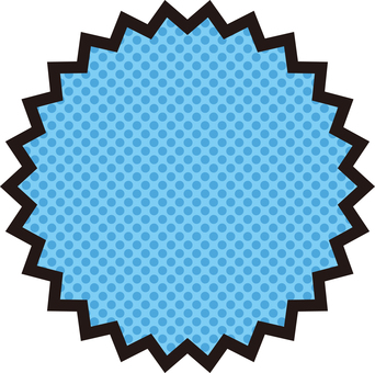 曲折框架<蓝色>