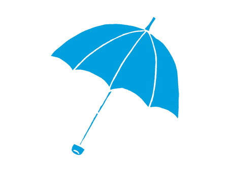 Folding umbrella-open blue