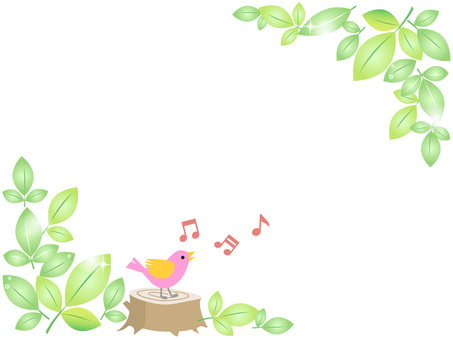 70424. Fresh green and small birds 2