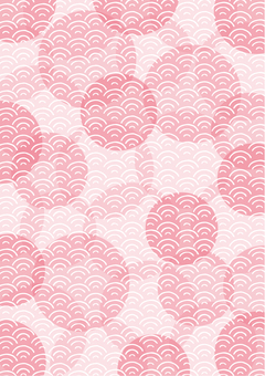 Wave circle_texture vertical 05_pink