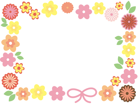 Colorful flower frame 4