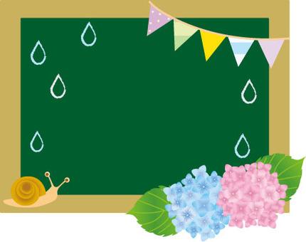 Rainy season's blackboard
