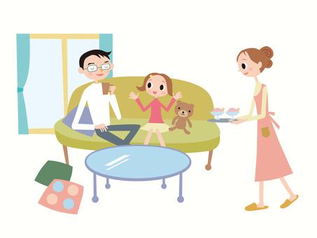 和孩子交談