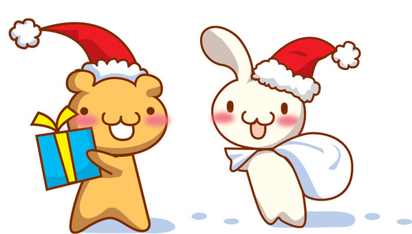 Bear Santa and Bunisanta