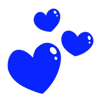 Many plump hearts (blue)