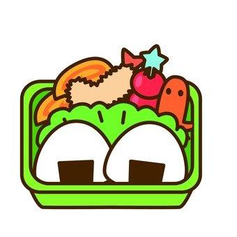 Onigiri lunch box (green lunch box)