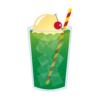 Cream soda illustration