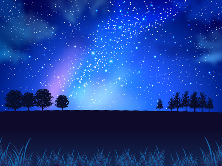 Summer star and night sky and field background 01