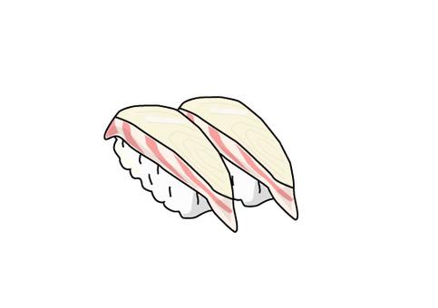 Sushi red sea bream