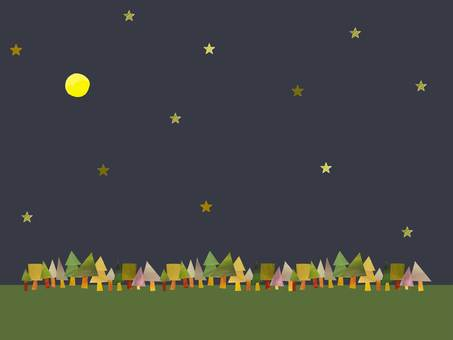 Forest and starry sky