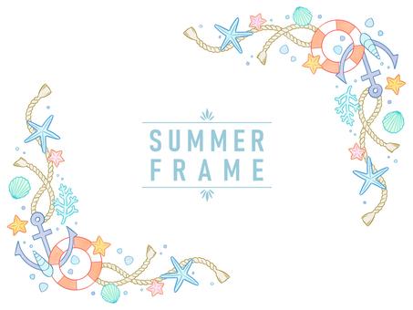 自然框架材料29夏天五顏六色