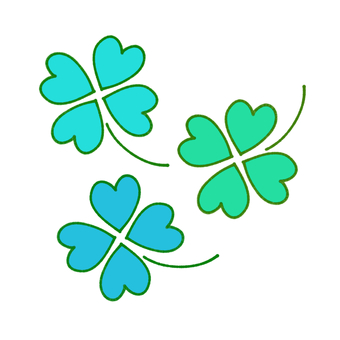 Four-leaf clover (blue)
