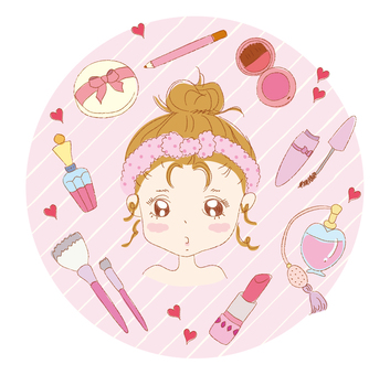 Makeup tools and girls