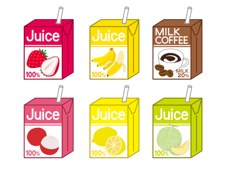 Paper pack juice (6 types) Vol. 2