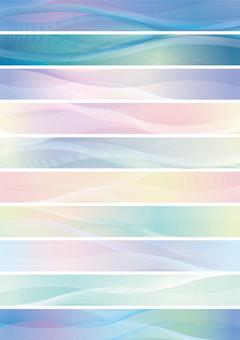 Wave pattern banner set