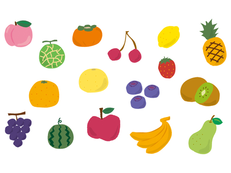 Fruit set handwriting style 1