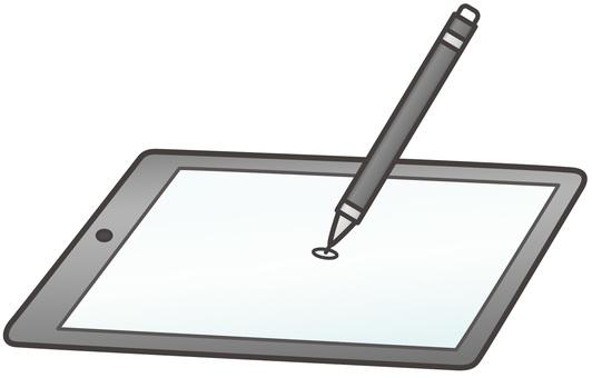 태블릿과 터치 펜
