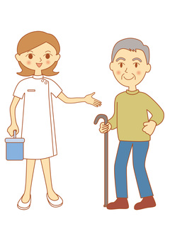 Nurses and elderly people