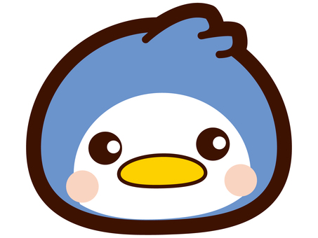 Cute penguin face