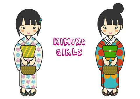 A woman in a yukata figure