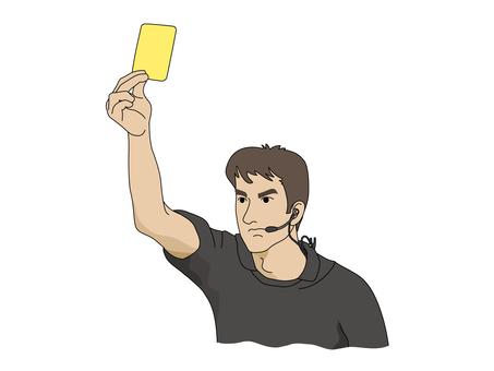 옐로우 카드를 발행 주심