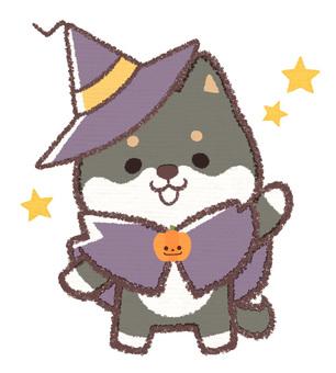 Halloween ebony dog