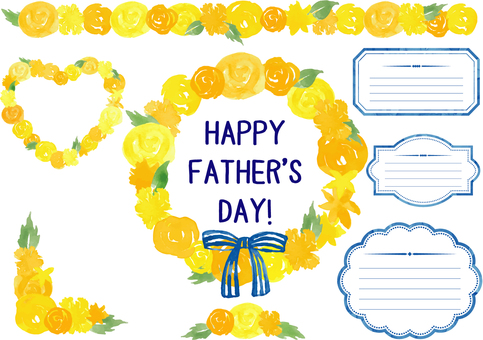 Father's Day _ flower watercolor frame