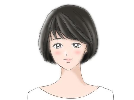Beautiful woman (blur style)